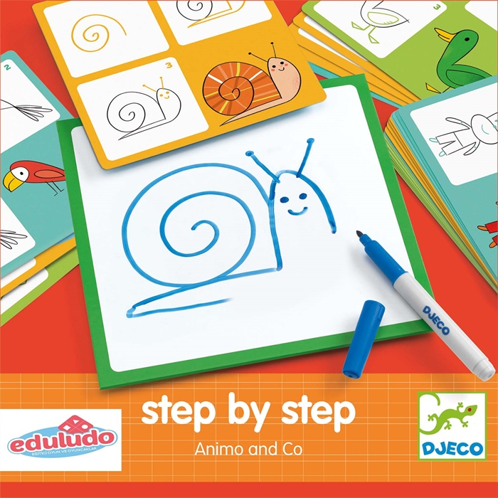 Step by Step Animo and Co - Adım Adım Çizim Hayvanlar