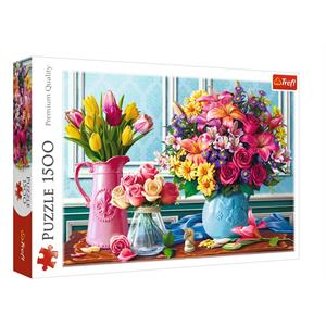Flowers in the Vases 1500 Parça Puzzle