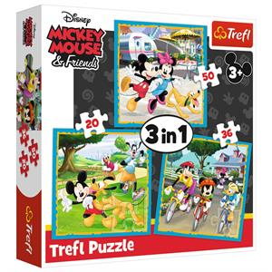 Mickey Mouse with Friends / Disney Standart Characters 3'lü 20+36+50 Parça Puzzle