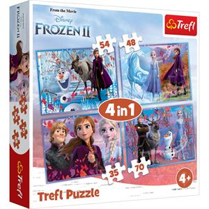 Journey into the Unknown / Frozen II  4'lü 35+48+54+70 Parça Puzzle