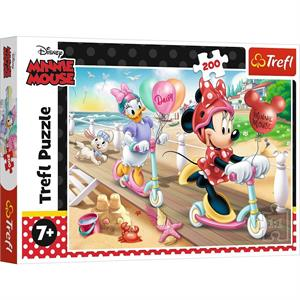 Minnie On The Beach / Disney Minnie  200 Parça Puzzle